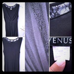 Sleeveless, lace inlay, blouse